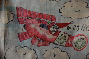 Santa in my Airplane